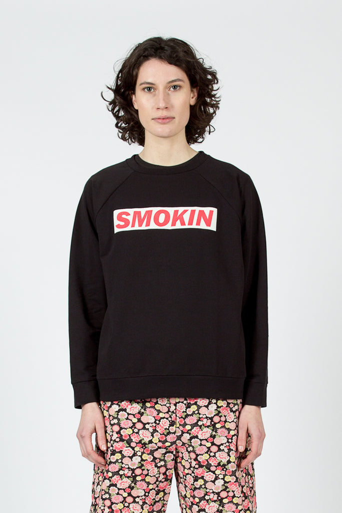 Black 'SMOKIN' Sweatshirt