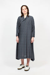 Patterned Wrap Dress