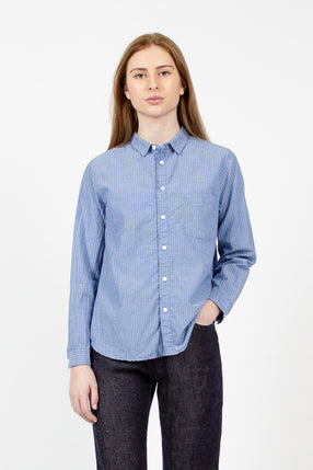 Saxe Blue Striped Shirt