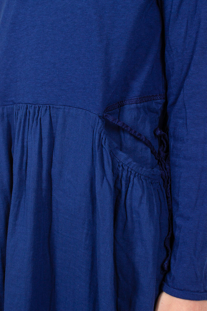 Blue Tenjiku x Double Gauze Butter Dress