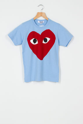 PLAY Blue Big Heart T-Shirt
