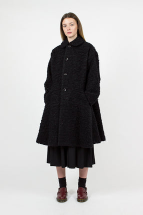 Black Wool Mohair Coat