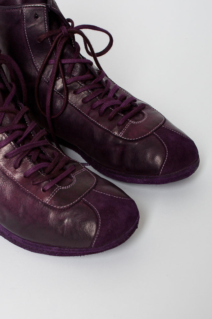 RN02W Full Grain High Purple Sneaker