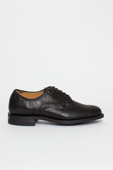 Black Horsehide Derby Shoe