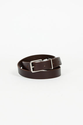 Brown Leather Keeper Belt