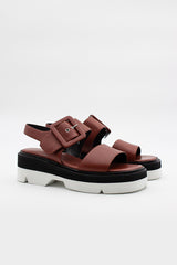 Rust Leather Sandals