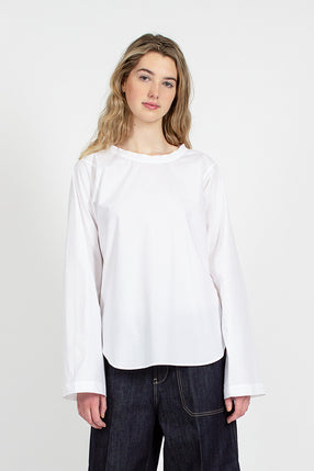 Brussels Long Sleeve Optical White Top