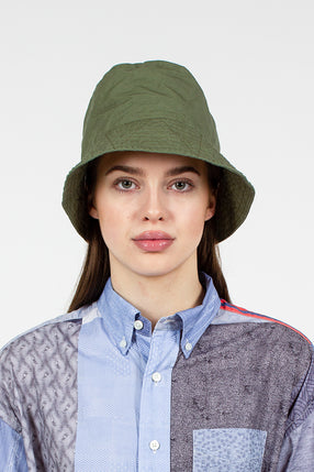 Olive Cotton Ripstop Bucket Hat