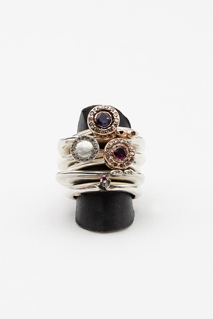 Wafa Pink Gold And Garnet Ring