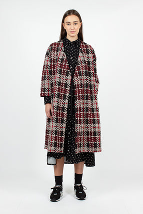 Cache Coeur Dress Black/Red Tweed Knit