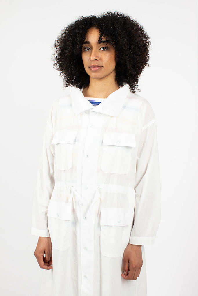 Cagoule Dress Cotton Lawn White