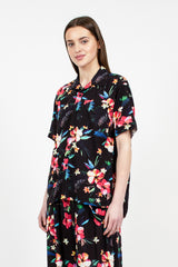 Camp Shirt Black Tropical