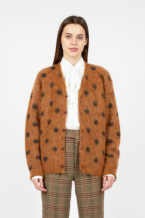 Brown Polkadot Cardigan