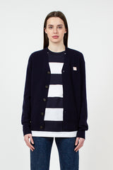 Navy Keve Face Cardigan