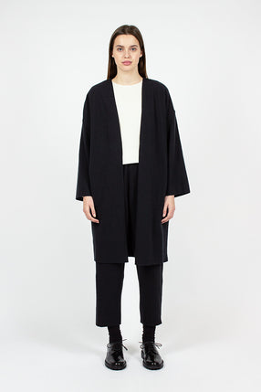 NCJ28 Midnight No Collar Coat