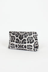 Grey Cheetah Fold Clutch