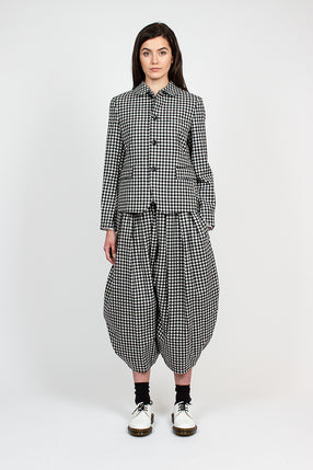 Check Drop Crotch Culottes