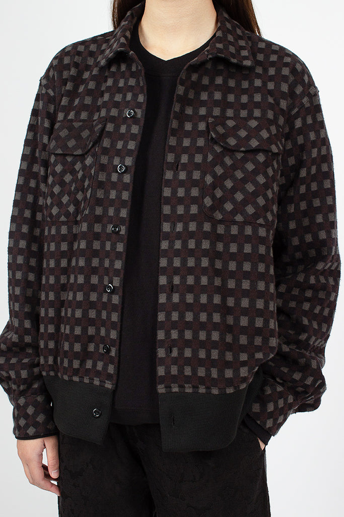 Classic Shirt Black/Brown Vintage Check Flannel