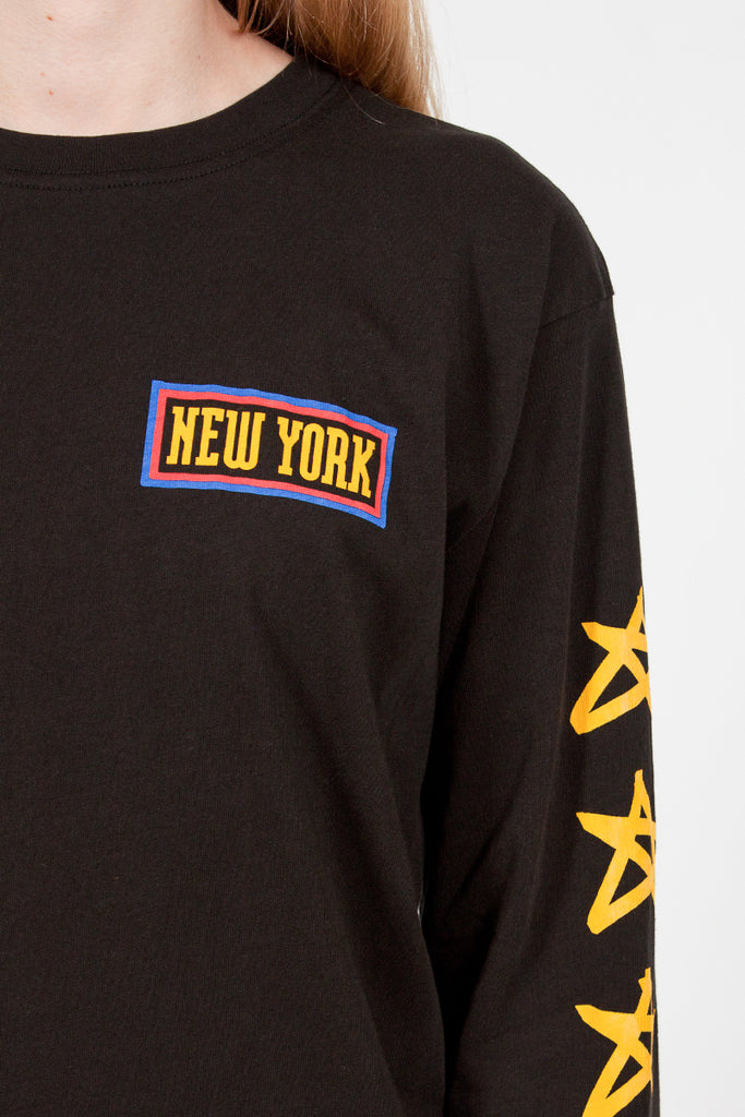 New York LS Boy T Jet Black