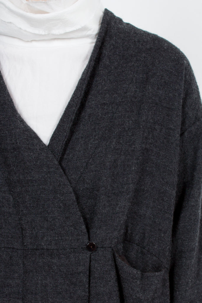 Charcoal Navy Frock Robe