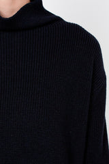 Navy High Neck Jumper
