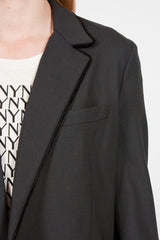 Piped Blazer Charcoal