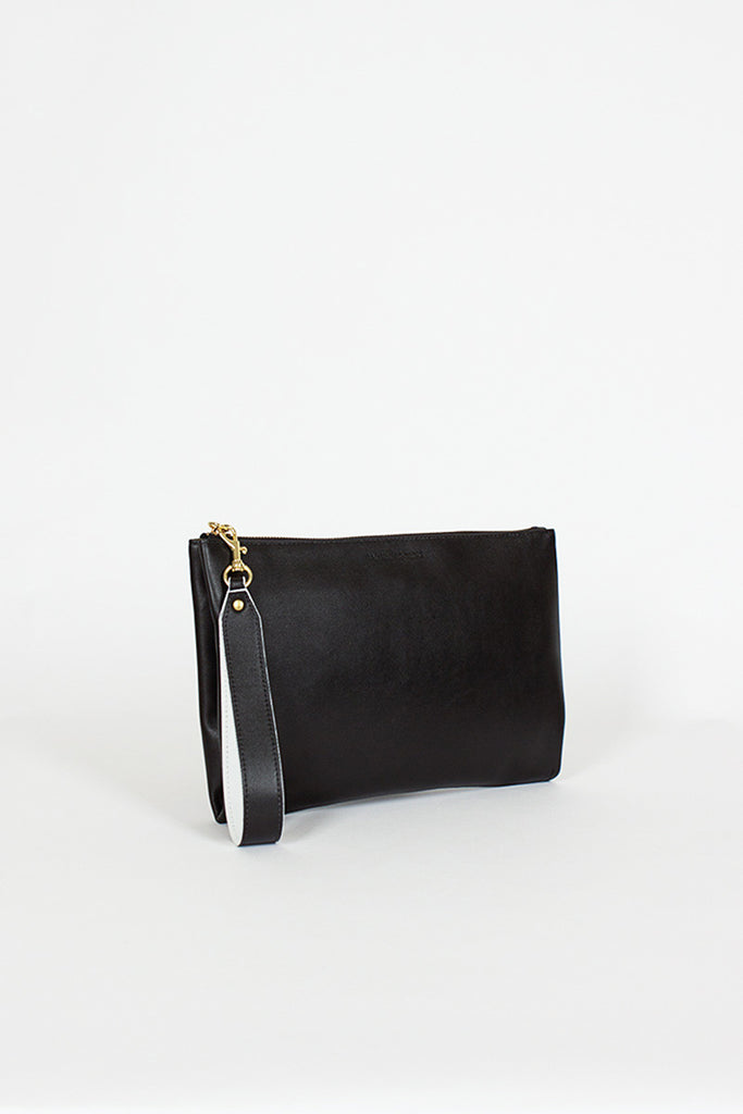 Black Medium Wrist Bag