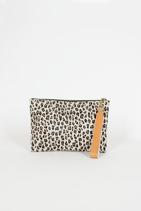 Mini Leopard Medium Wrist Bag