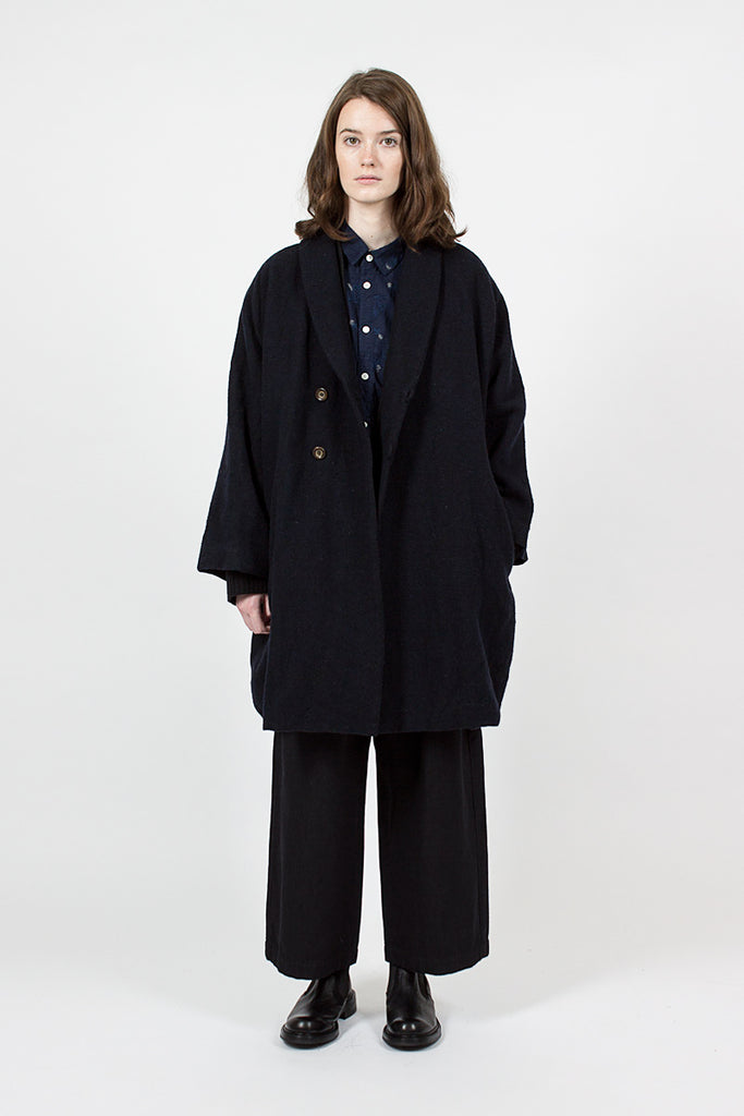 Linen And Wool Woven Coat