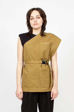 Single Shoulder Umber Shirt