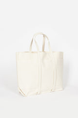 White Washed Canvas 6 Pocket Tote