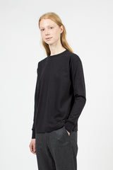 Heather Black Crew Neck Loopwheeler Pullover