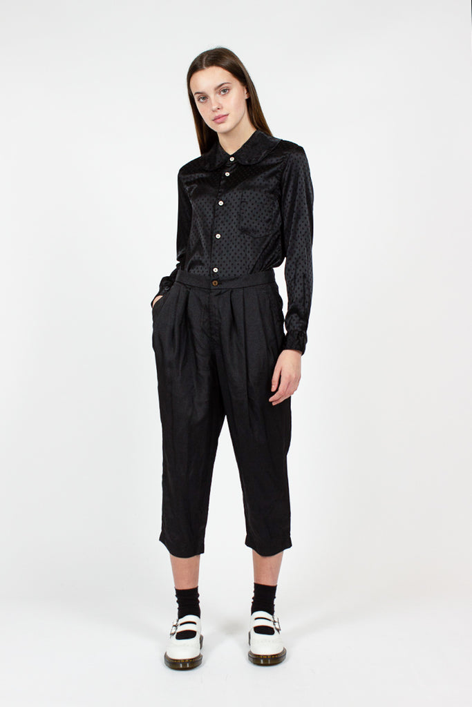 Black Cropped Trouser