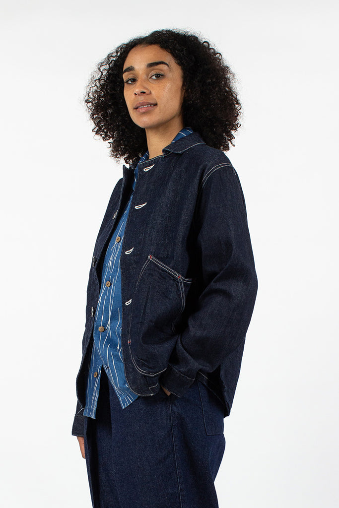 12oz Ringoman Coverall Jacket Indigo