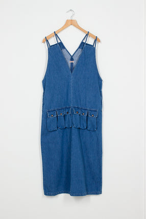 Denim Game Pocket Dress