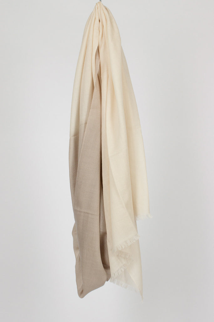 Taupe/Ivory Two Tone Shawl