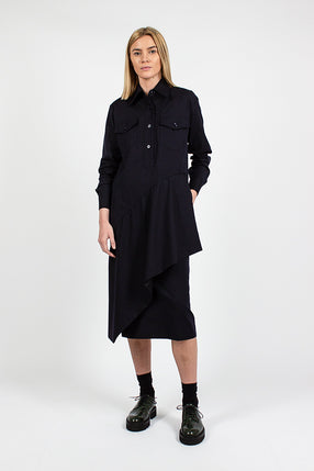 Deniz Navy Shirt Dress