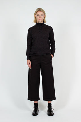 MHL Black Cropped Trouser