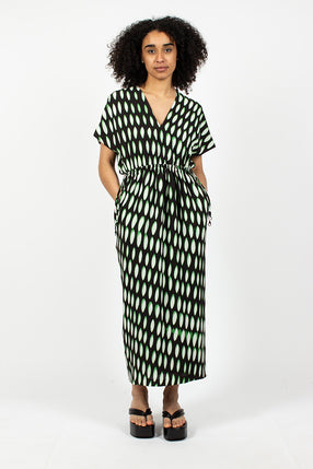Dorias Dress Black/Green