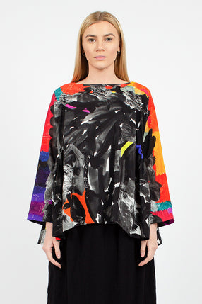 New Pride Print Shirt Multi Silk
