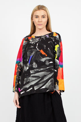 Printed Blouse Multi Silk