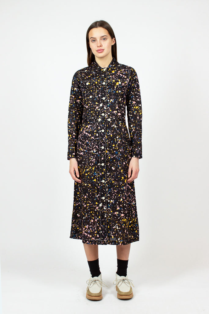 Cosmic Black Shuttle Dress