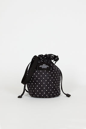 B.I.P Black Dots Mini Drawstring Shoulder Bag
