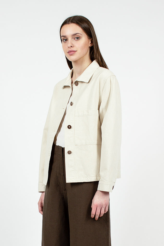 MHL Stand Collar Natural Jacket