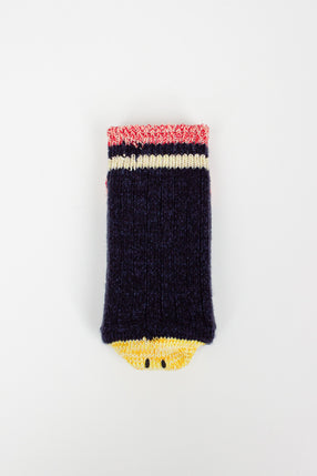 EK-563 Navy Smile Socks