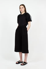Frill Pocket Culottes Black