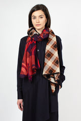 Flaming Purple Duo Print Scarf