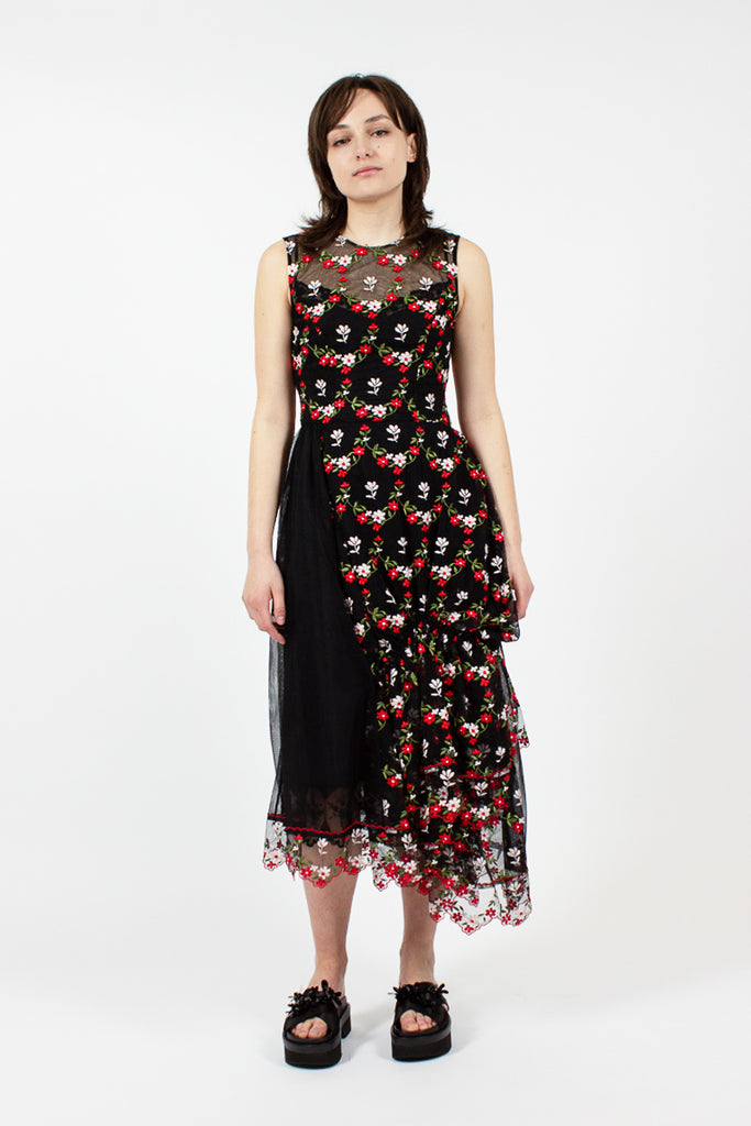 Gathered Patchwork Dress