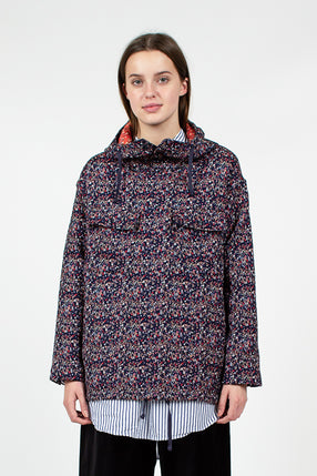 Navy Floral Cagoule Shirt