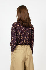 Ascot Collar Liberty Print Shirt